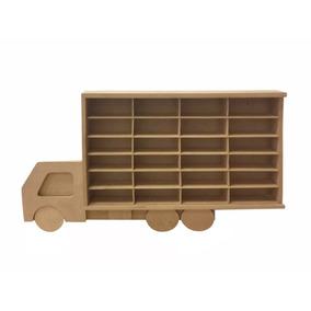 Porta Hotwheels Para 24 Carrinhos Mdf Cru Suporte 0207