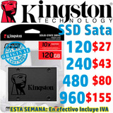 Unidad Ssd Interna 2.5 Laptop O Pc, Disco Sólido Kingston