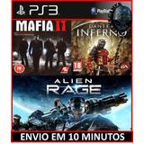 Combo Dantes + Mafia 2 + Aliens Rage Ps3 Psn Digital Hoje