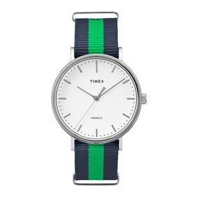 Relógio Timex Weekender Tw2p90800ww/n Pulseira De Nylon