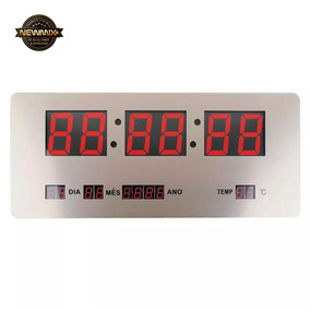 f02aa8ef902 Relogio De Parede Digital Termometro - Relógios no Mercado Livre Brasil