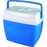 Caixa Térmica 26 Litros Azul Com Alça Da (mor)