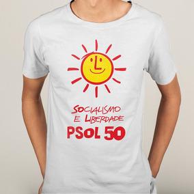 9c84420d8a Camisa Psol Partido Socialismo E Liberdade Vertical Br