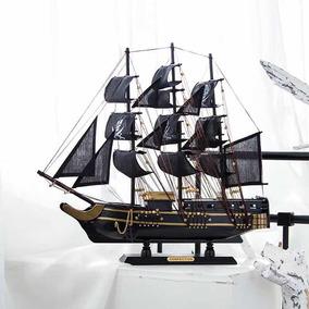 Navio Barco Pirata Caravela Decorativo 50 Cm