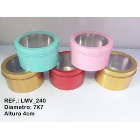 0039fa330fd7b Lata Metal Redonda - Artesanato no Mercado Livre Brasil