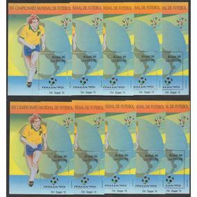 Grc177 - 10 X Bloco Brasil 1976 1992 - 50 Blocos Novos Goma