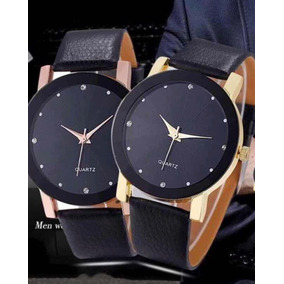 Relógio Quartz Masculino Pulseira Couro
