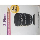 Macro Extension Tube Set (3piezas) Para Nikon