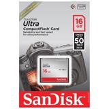 Cartão Memória Compact Flash Sandisk Ultra 16gb 50mb/s