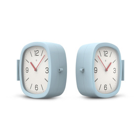 Reloj De Pared Bifaz Doble Dual Gato Colores
