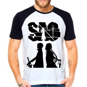 Camiseta Sword Art Online - Camisetas Manga Curta no Mercado Livre ... e7d230bccf7da