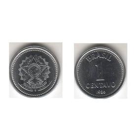 Pacote 3 Moedas, 1 Centavo 1986, 200 Réis E 50 Cruzeiros1983