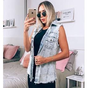Maxi Colete Jeans Comprido Roupas Femininas Instagram 2019