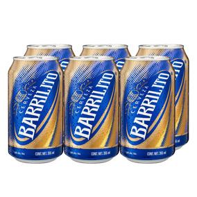 Cerveza Clara Six Pack Barrilito Bote 355 Ml
