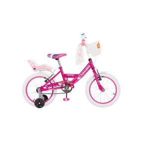 Bicicleta Nena Niña Cross Top Mega Princes R16 Bmx + Led