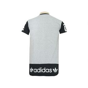 4d39683f1f Camisa Oversized Adidas Preto E Cinza - Calçados