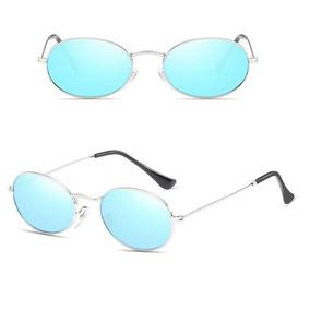 Oculos De Sol Oval Vintage Lente Uv400 Estilo Mini Retrô 54d64101ca