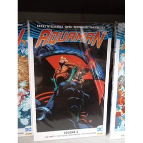 Aquaman Volumes 1, 2, 3 E 4 Dc Renascimento Hq Panini Comics