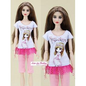 892f4ad3872 Roupinha E Sapatos 2 Linda Boneca Tipo Barbie C - Brinquedos e ...