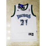 Camisa Minnesota Timberwolves Kevin Garnett Branca 4ba5ced06fd