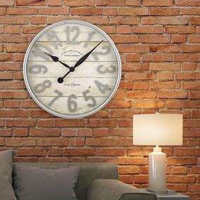 Reloj De Pared Grande Acabado Galvanizado Moderno Y Elegante