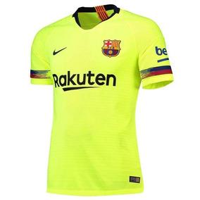 Camisa Verde Limão Do Barcelona - Camisetas Manga Curta no Mercado ... 81b1ef5a244e9