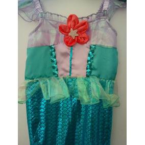 Hermoso Disfraz Princesa Sirenita Talla 4 Mod S30 Fiesta