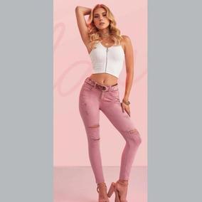 Jeans Casual Paris Hilton Skinny Color Rosa Ps_180775