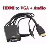 Cable Adaptador Conversor Hdmi A Vga Con Audio Sellado Blist