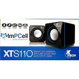 Parlantes Xtech Speaker Usb Pwr 5w Black 3.5mm Xts-110