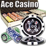 500 Count Ace Casino Poker Set - 14 Gramos De Fichas Compue