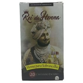 Henna Sobrancelhas Indiana Sobran Fix 2.0 Castanho Escuro