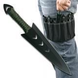 Conjunto Com 6 Facas De Arremesso Kunai Punhal Táticas Ninja