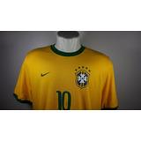 Camisa Nike Home Seleção Brasileira Nova Oficial C  Etiqueta 19d8803c55698