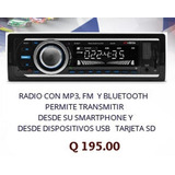 Radio Para Carro Con Mp3 Y Bluetooth