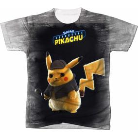 49b6cd944 Camisa Camiseta Filme Desenho Pokemon Pikachu Detetive 05