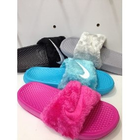 Chancletas-sandalias. Nike Gamuzadas. Damas