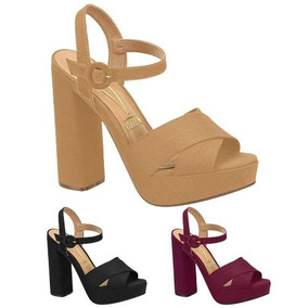 ed5c84a2cf Sandalia Modelo Novo Salto Grosso - Sapatos para Feminino no Mercado ...