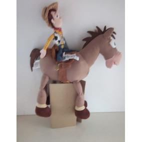 Cowboy Woody + Cavalo Bullseye - Toy Story Disney -original