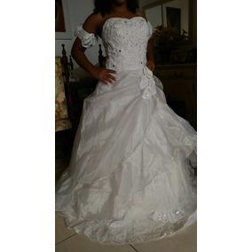 Vestido De Noiva Em Organza Queima De Estoque
