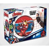 Kit Vôlei Avengers Vingadores Rede 5m Bola E.v.a Líder