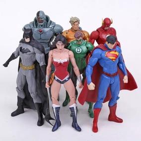 Bonecos Liga Da Justiça Batman Superman Lanterna Flash Kit 7