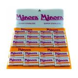 Cuchilla Minora Carton X 60 Cuchillas Hoja Barberia Peluque
