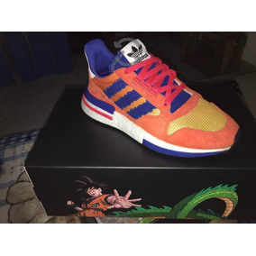 Tenis Dragon Ball Zx Rm 500 Goku De Color Naranja Y Azul