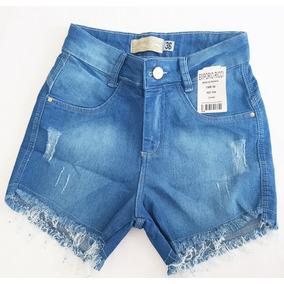 Shorts Jeans Feminino Com Lycra