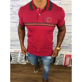 e6c5f75aac827 Camisas Masculinas Polo Gucci Original Frete Grátis