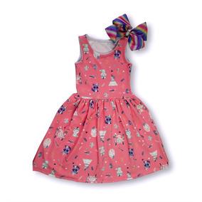 Vestido Longo Em Kloque - Kit Roupa Infantil Menina 6 Pecas