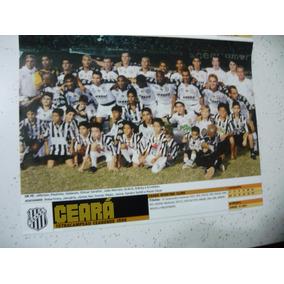 Mini Poster Ceará Tetra Campeão Cearense 1999 Placar