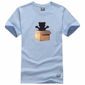 Camisa Camiseta Grizzly Logo Branco Urso Promocao Da Semana