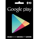 Tarjeta Google Play $10 (código Digital)
